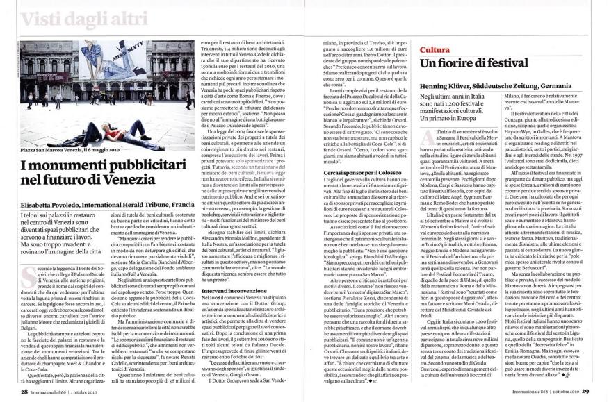 101001/07 / SERENISSIMA on Internazionale n°866