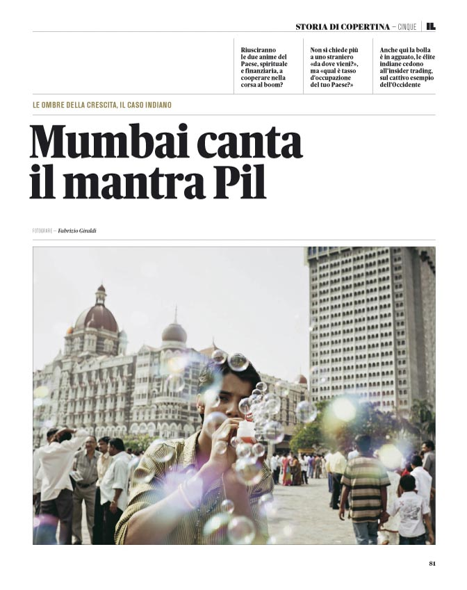 110717 / GO MUMBAI and DIODIVERSITY on IL n°25 IlSole24ORE