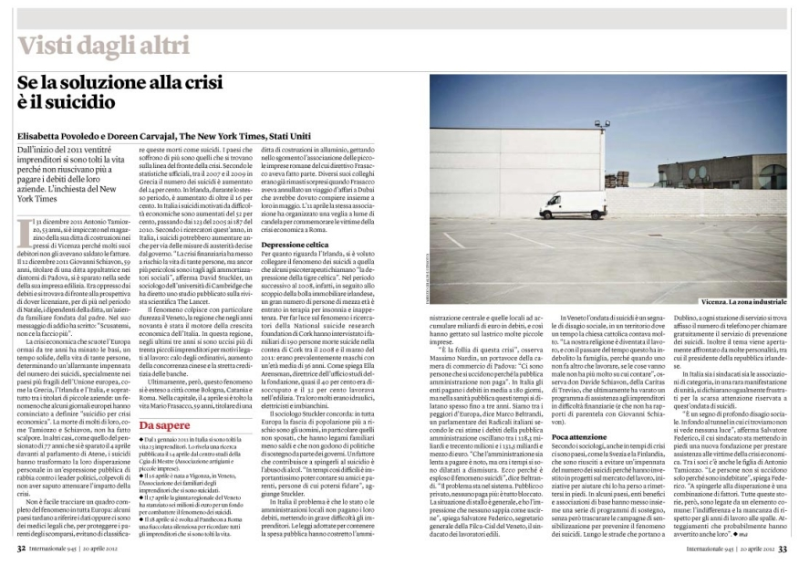 120420/06 / CRISI NORD EST on Internazionale n°945